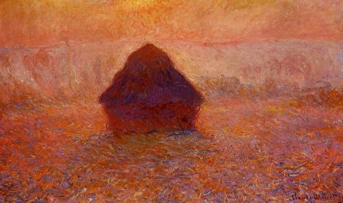 Grainstack, Sun in the Mist, 1890 by Claude Monet