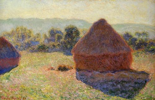 Grainstacks in the Sunlight, Midday, 1890 by Claude Monet