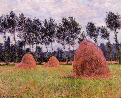 Haystacks, Overcast Day, 1884 by Claude Monet