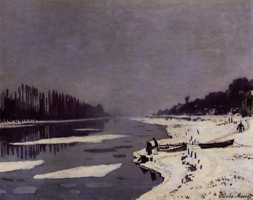 Ice Floes on the Seine at Bougival, 1876 by Claude Monet