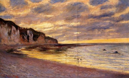 L'Ally Point, Low Tide, 1882 by Claude Monet