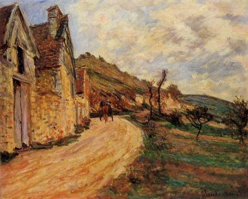 Les Roches at Falaise near Giverny, 1885 by Claude Monet