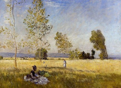 Meadow at Bezons, 1874 by Claude Monet