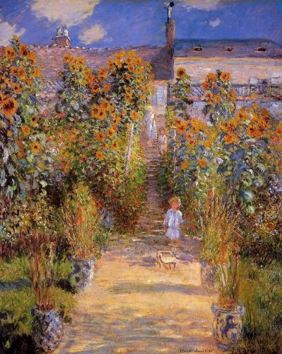 Monet's Garden at Vetheuil, 1880 by Claude Monet
