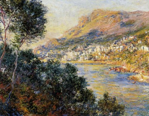 Monte Carlo Seen from Roquebrune, 1884 by Claude Monet