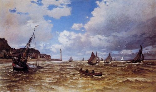 Mouth of the Seine at Honfleur, 1865 by Claude Monet
