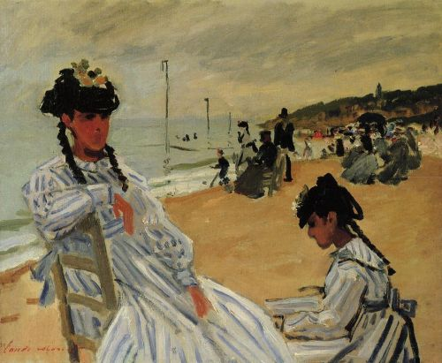 On the Beach at Trouville, 1871 by Claude Monet