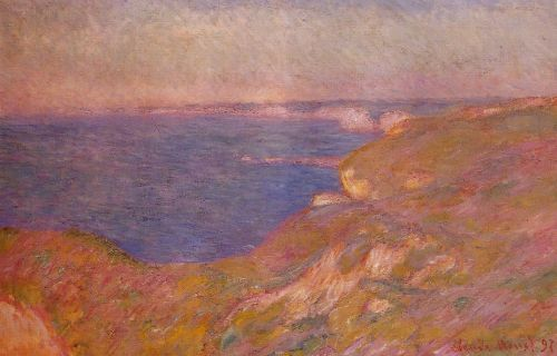 On the Cliff near Dieppe, 1897 by Claude Monet