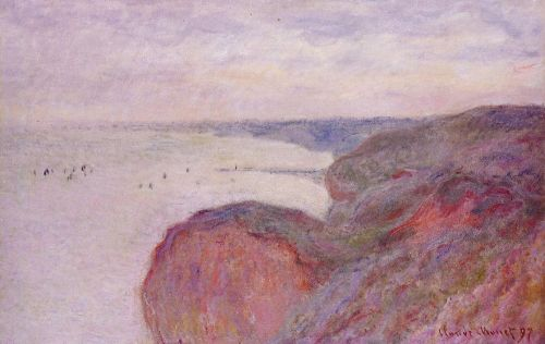 On the Cliff near Dieppe, Overcast Skies, 1897 by Claude Monet