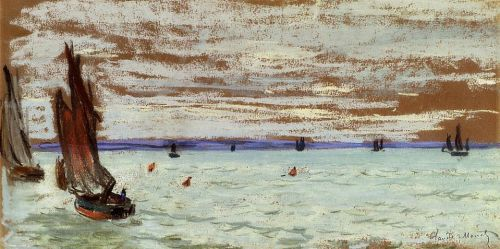 Open Sea, 1866 by Claude Monet