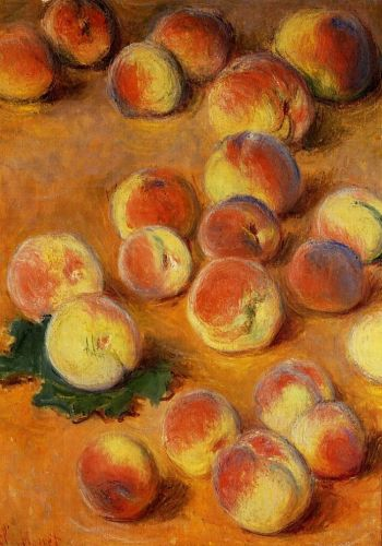 Peaches, 1883 by Claude Monet