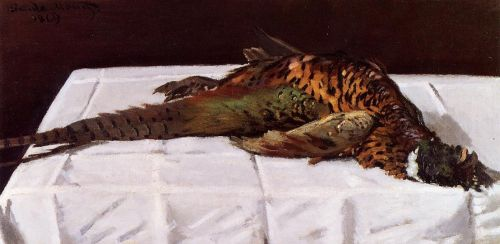 Pheasant, 1869 by Claude Monet