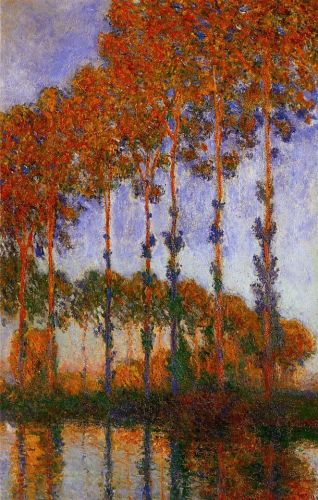 Poplars on the Banks of the River Epte, Sunset, 1891 by Claude Monet