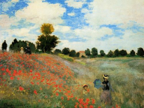 Poppies, 1873 by Claude Monet