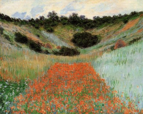 Poppy Field in a Hollow near Giverny, 1895 by Claude Monet