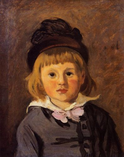 Portrait of Jean Monet Wearing a Hat with a Pompom, 1869 by Claude Monet