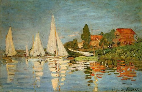 Regatta at Argenteuil, 1872 by Claude Monet