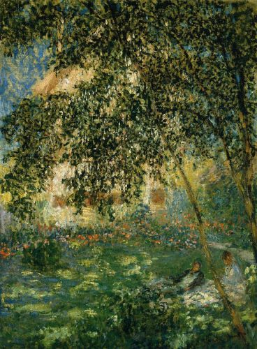Relaxing in the Garden, Argenteuil, 1876 by Claude Monet