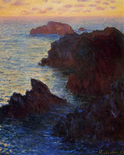 Rocky Point at Port-Goulphar, 1886 by Claude Monet