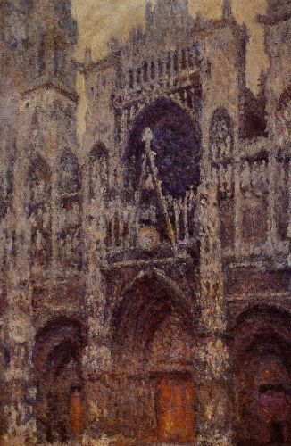 Rouen Cathedral, Grey Weather by Claude Monet