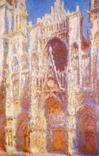 Rouen Cathedral, Sunlight Effect, 1892 by Claude Monet