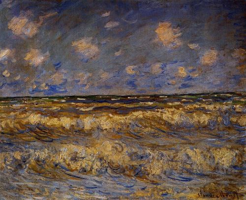 Rough Sea, 1881 by Claude Monet