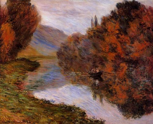 Rowboat on the Seine at Jeufosse, 1884 by Claude Monet