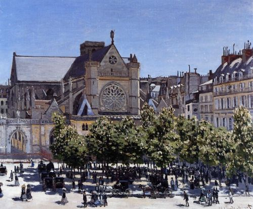 Saint-Germain-l'Auxerrois, 1867 by Claude Monet