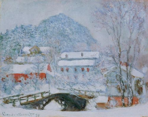 Sandviken Village in the Snow, 1895 by Claude Monet