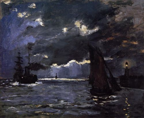 Seascape, Night Effect, 1866 by Claude Monet