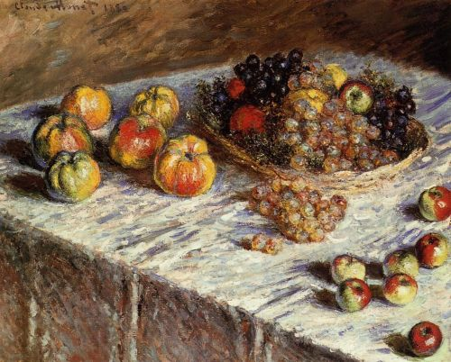 Still Life: Apples and Grapes, 1880 by Claude Monet