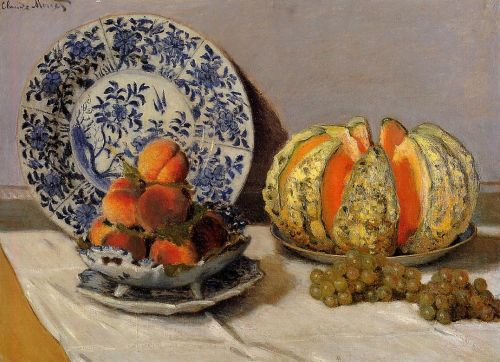 Still Life with Melon, 1872 by Claude Monet
