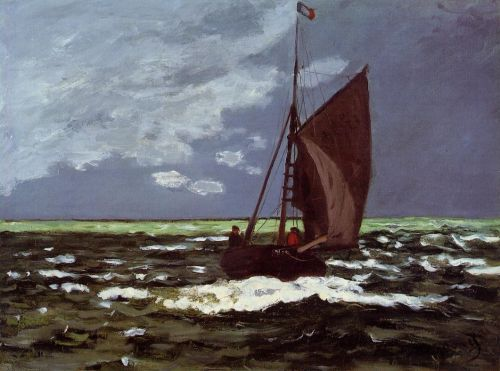 Stormy Seascape, 1866 by Claude Monet