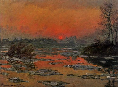 Sunset on the Seine in Winter, 1880 by Claude Monet