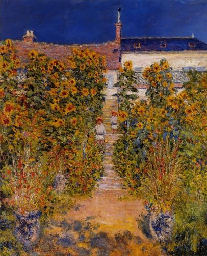 The Artist's Garden at Vetheuil, 1881 by Claude Monet