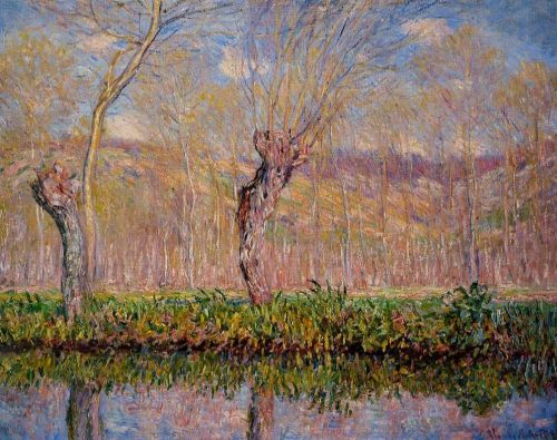 The Banks of the River Epte in Spring, 1885 by Claude Monet