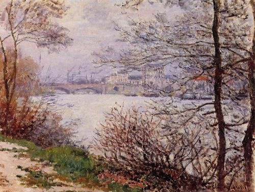 The Banks of the Seine, Ile de la Grande-Jatte, 1878 by Claude Monet
