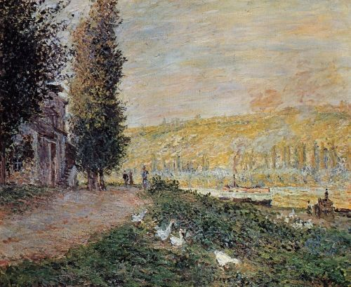 The Banks of the Seine, Lavacour, 1878 by Claude Monet