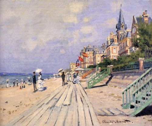 The Boardwalk at Trouville, 1870 by Claude Monet