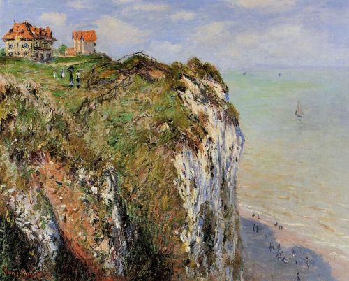 The Cliff at Dieppe, 1882 by Claude Monet
