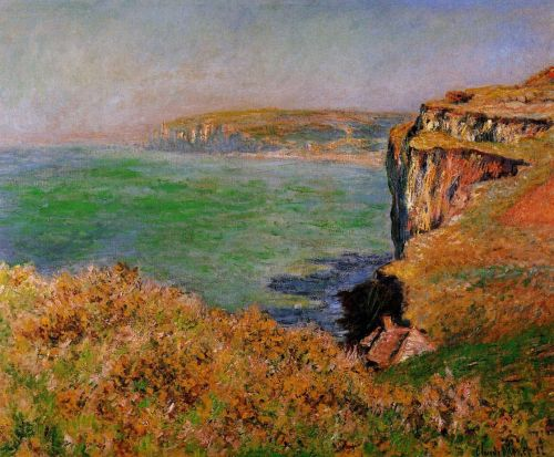 The Cliff at Varengeville, 1875 by Claude Monet