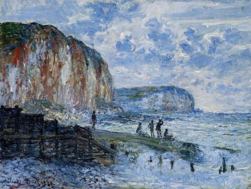 The Cliffs of Les Petites-Dalles, 1880 by Claude Monet