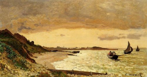 The Coast at Sainte-Adresse, 1864 by Claude Monet