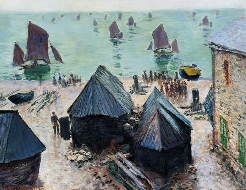 The Departure of the Boats, Etretat, 1885 by Claude Monet