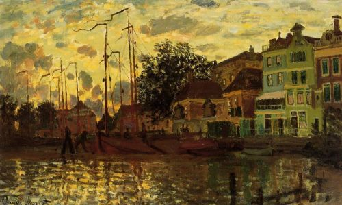 The Dike at Zaandam, Evening, 1871 by Claude Monet