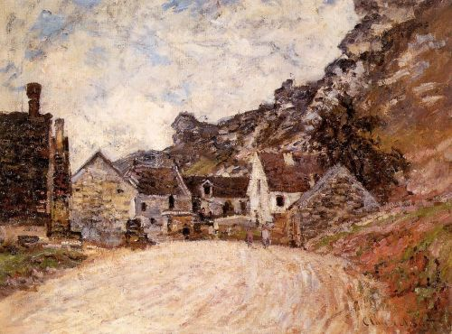 The Hamlet of Chantemesie at the Foot of the Rock, 1880 by Claude Monet