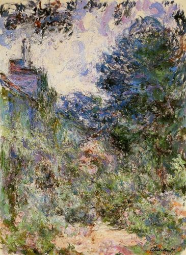The House Seen from the Rose Garden, 1922-1924 by Claude Monet