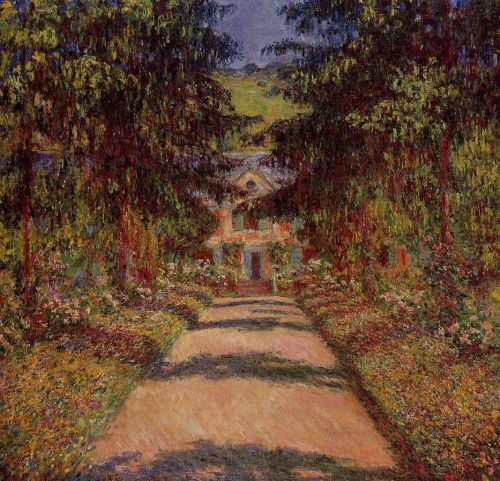 The Main Path at Giverny, 1900 by Claude Monet