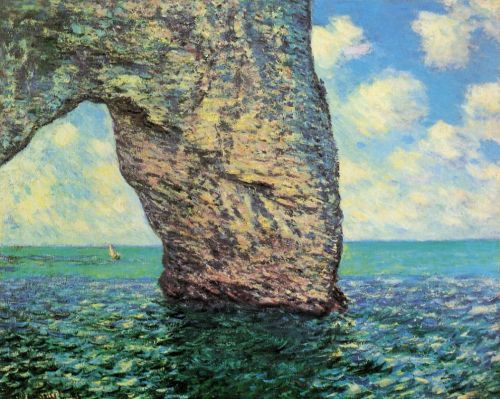 The Manneport at High Tide, 1885 by Claude Monet
