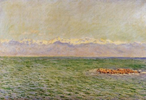 The Meditarranean at Antibes (The Sea and the Alps), 1888 by Claude Monet